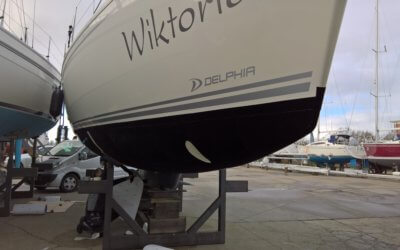 SY Wiktoria wrapped in the new generation of an antifouling